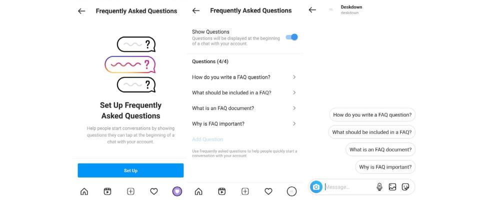 FAQs in Instagram Direct einstellen – Instagram testet das praktische Feature