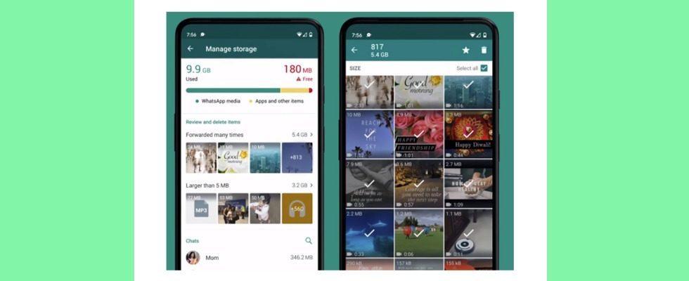 WhatsApp erleichtert mit neuem Update das Speicher-Management