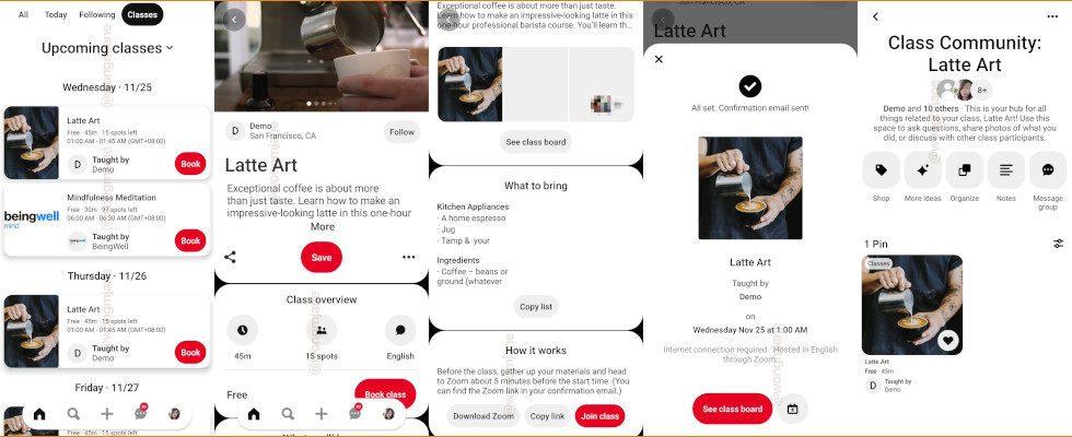 """""""Class Communities"""": Pinterest testet Online Events"""