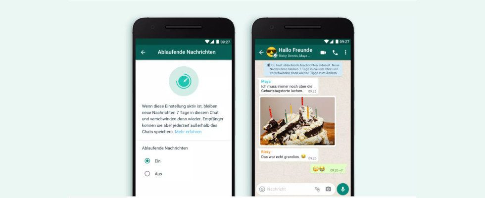 Für private Chats: WhatsApp rollt ablaufende Nachrichten aus