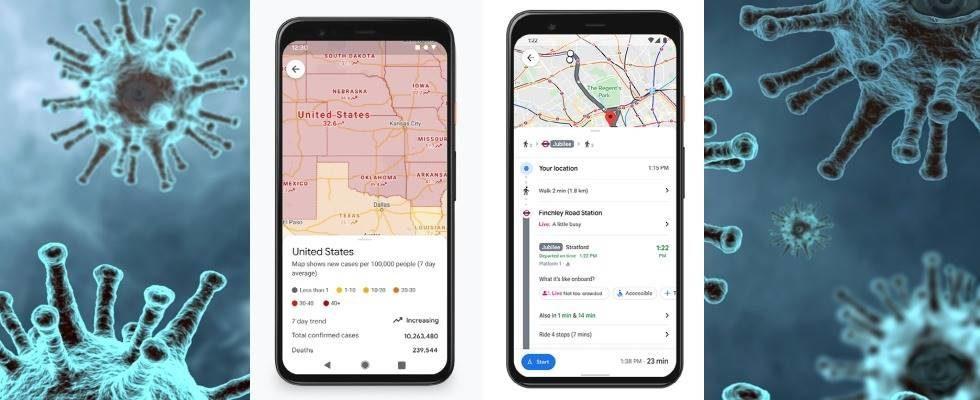 Sicher unterwegs: Google Maps erweitert Covid-19 Feature