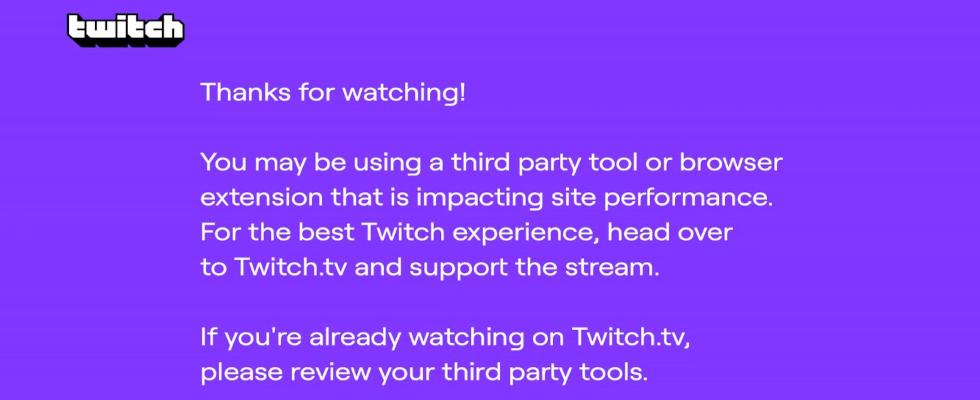 Alle 10 Minuten ein Pop-Up: Twitch nervt Ad Block User im Live Stream