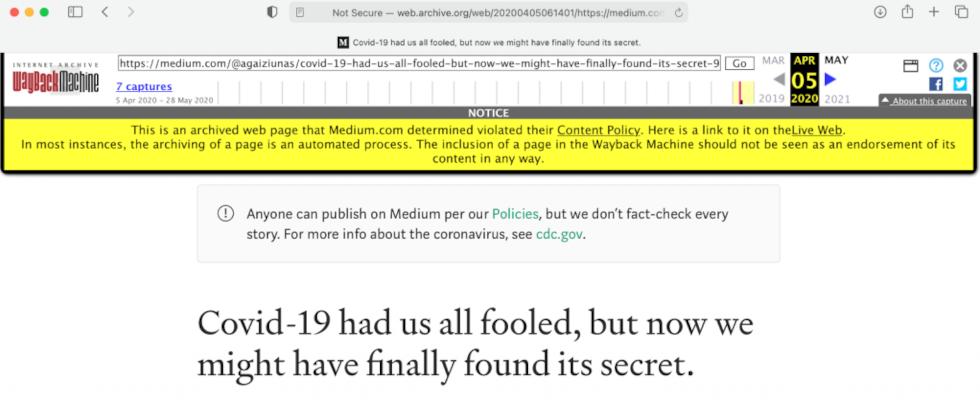 Wayback Machine startet Fact Checking auf archivierten Seiten
