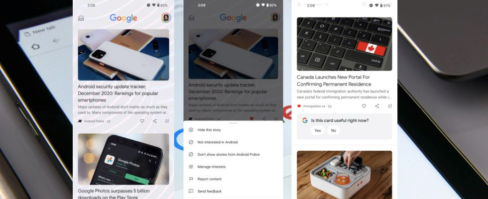 Google testet neues Design für Discover