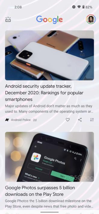 Neuer Look bei Google Discover