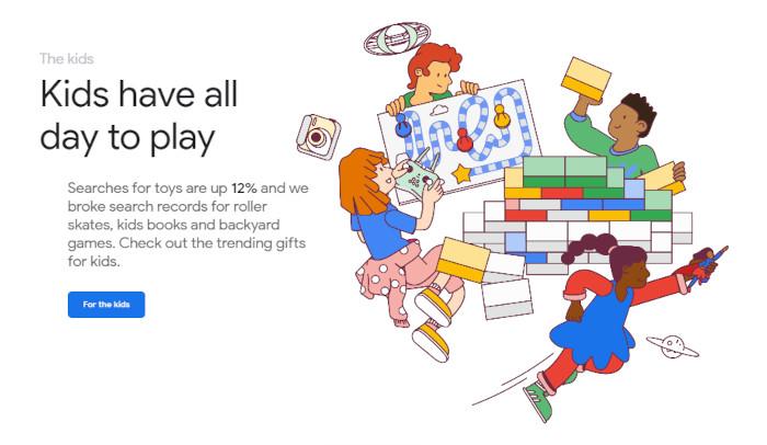 Google Shopping Gift Guide für Kids
