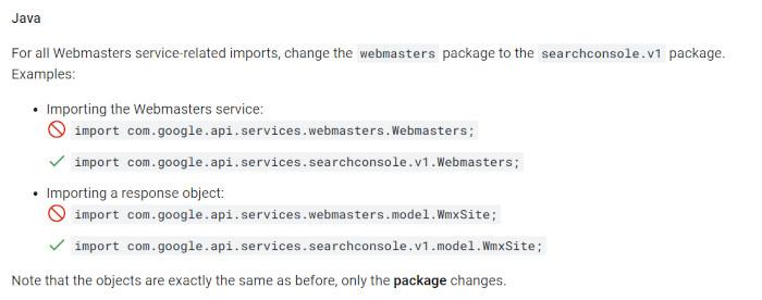 Notwendige Veränderungen in Java für die API-Bibliothek, © Google