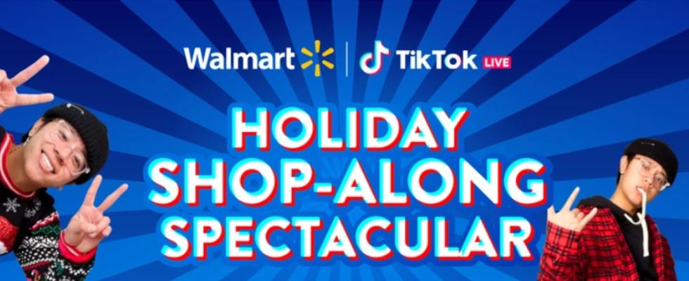 Visual zum Holiday Shopping mit TikTok und Walmart