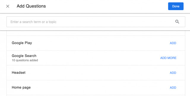 Kategorien zu Google im Content Hub