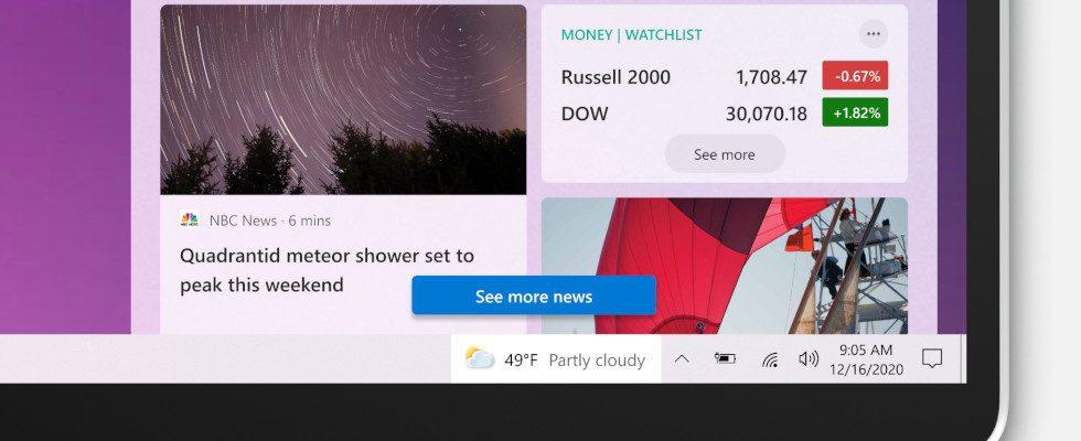 Bei Google Discover abgeschaut? Windows 10 empfiehlt News