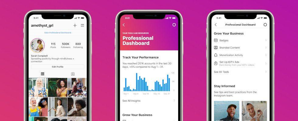 Instagram launcht Professional Dashboard für KMU und Creator