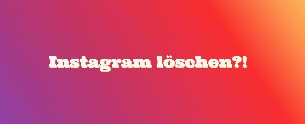 Instagram Account löschen: So geht's