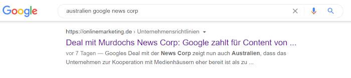Auch in der Suche nicht komplett angezeigte Titel können einen SEO-Mehrwert haben, Screenshot Google