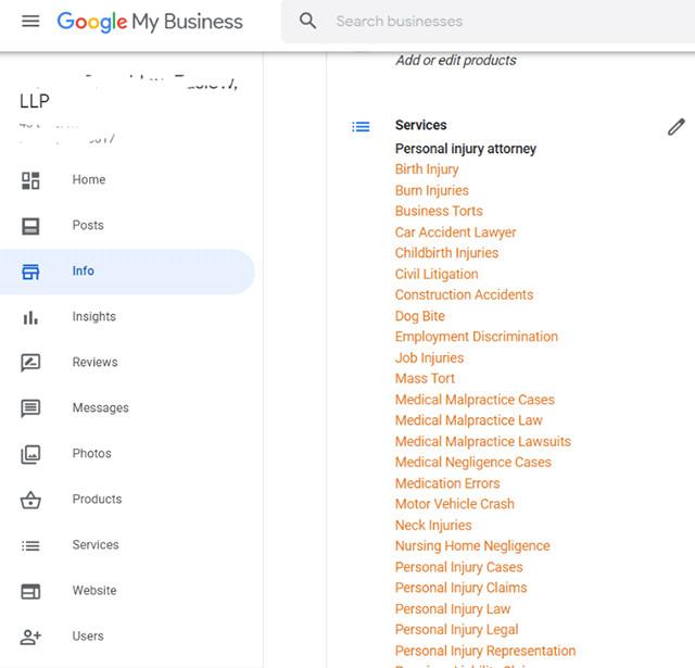 Google My Business: Automatisch generierte Service-Kategorien