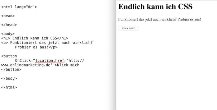 HTML Code zum Üben