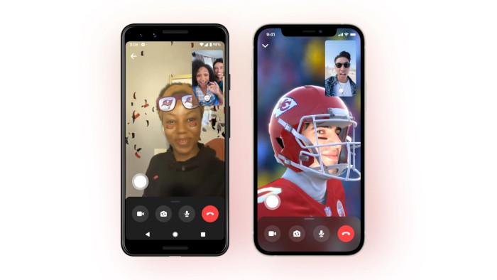 Camera filter in Messenger on Facebook