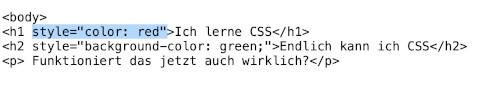 So bindest du CSS in HTML ein, © Maria Kupke