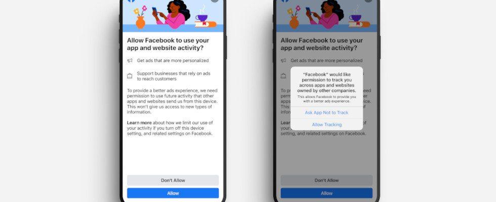 Facebook Pop-up greift Apples IDFA Update vor