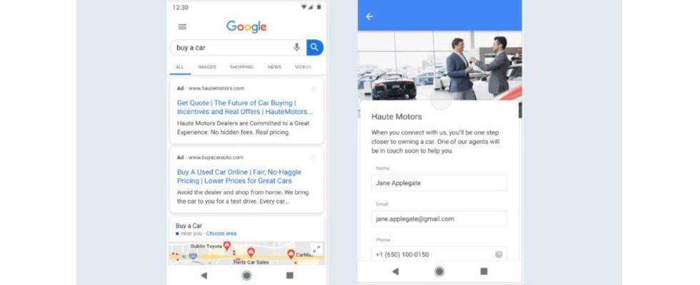 Google: Leads direkt in den SERPs sammeln