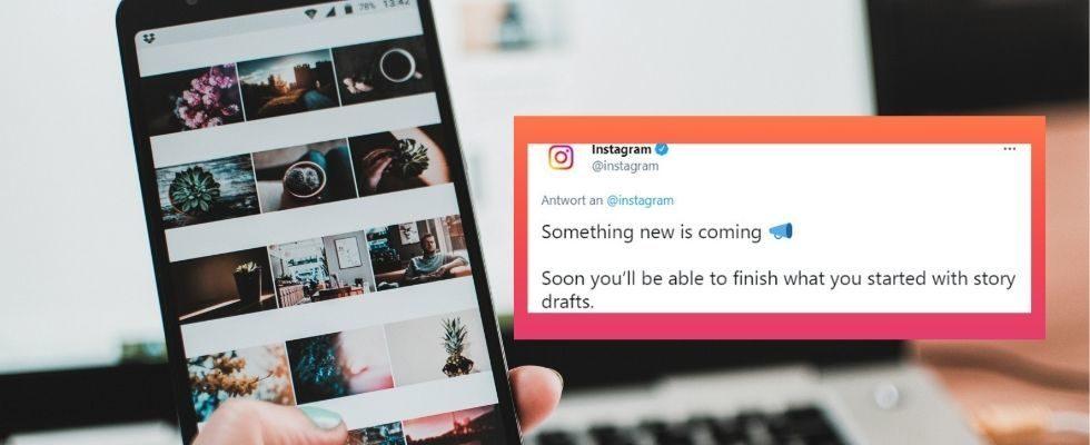 Instagram führt Entwürfe für die Story ein