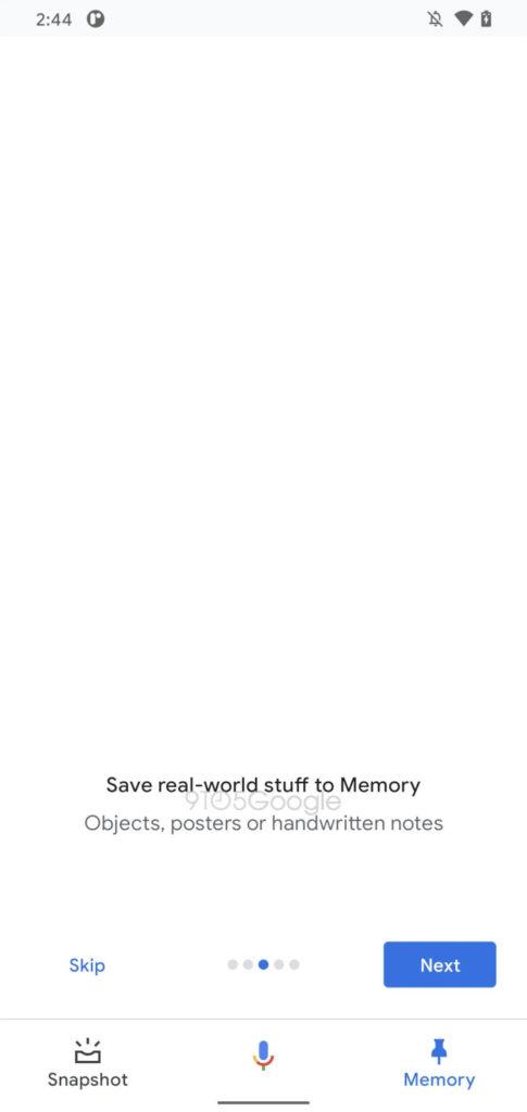 Einblick in Memory bei Google, 9to5google