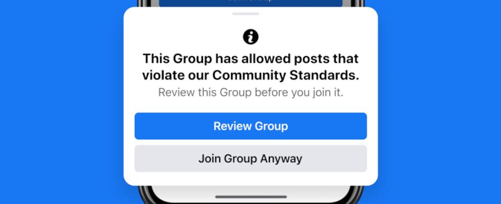 Facebook warnt User ab sofort vor dem Eintritt in problematische Gruppen