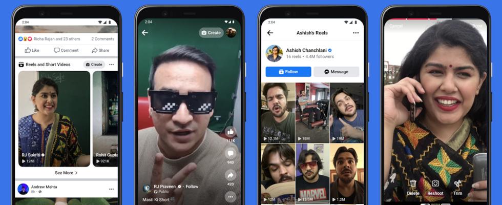 Offizieller Test: Instagram Reels können auf Facebook geteilt werden