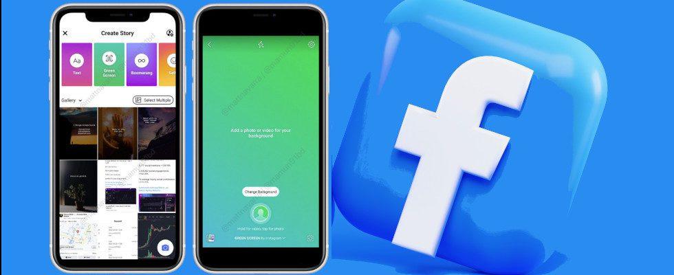 Facebook testet neues Greenscreen Feature für die Stories