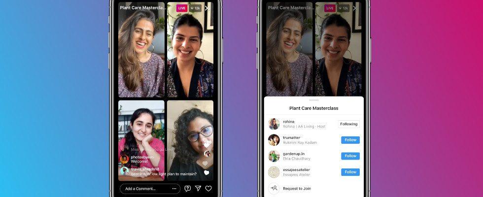 Instagram: Live Rooms gelauncht