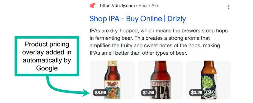 Mit Preis-Overlay: Google testet neues Search Layout für E-Commerce Websites