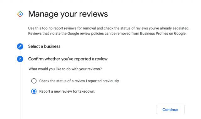 Screenshot zum Manage your Review Tool bei Google My Business, Barry Schwartz