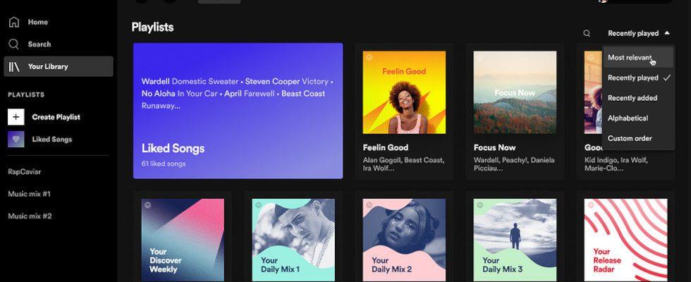 Spotify bekommt ein neues Design für die Desktop- und Web-Version