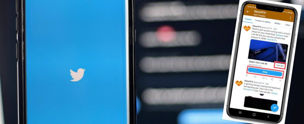 E-Commerce bei Twitter: Die Social App testet einen Shop Button