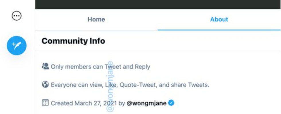 Twitter Community Page: Screenshots zeigen Tests zu dem neuen Feature