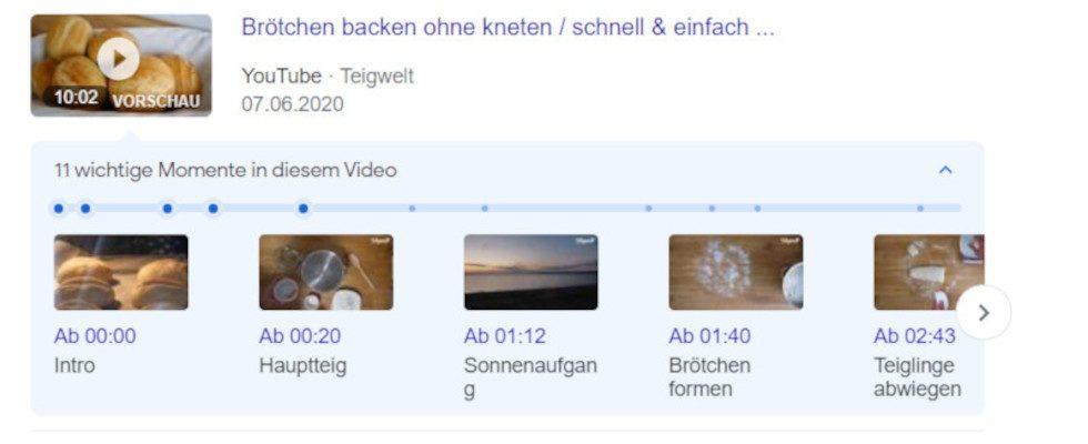 Google: Timestamps für YouTube Videos nun auch in der Desktopsuche