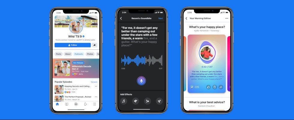 Facebooks Clubhouse-Klon ist da – inklusive neuer Sound Tools