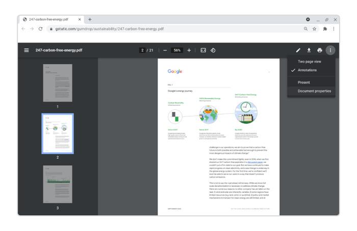 Neue PDF-Funktionen bei Google Chrome