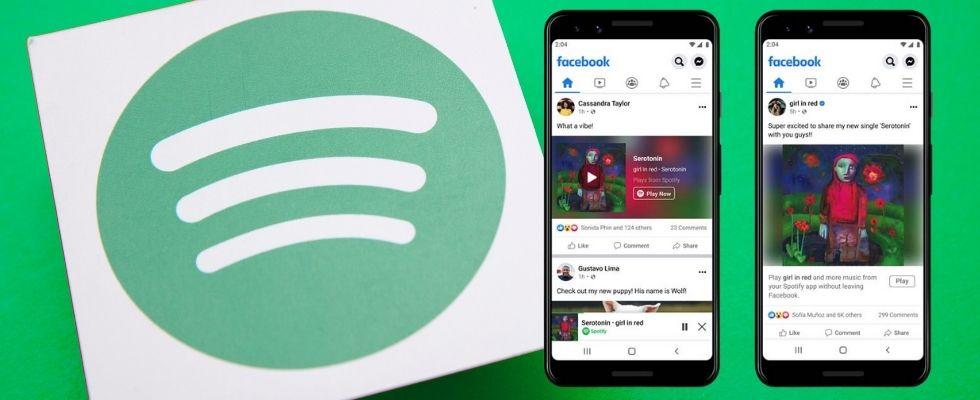 Partnerschaft zwischen Spotify und Facebook: Ab jetzt kannst du Musik und Podcasts direkt in der Social App hören