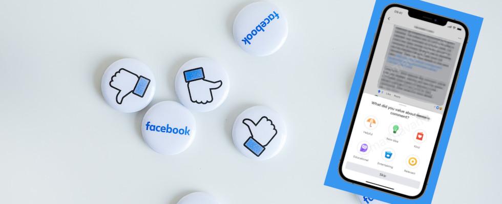 Erweiterung der Up- und Downvotes in Facebook-Gruppen: User können nun Gründe für die Bewertung des Contents angeben