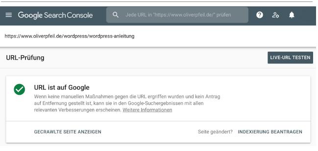 URL-Neuindexierung in der Search Console
