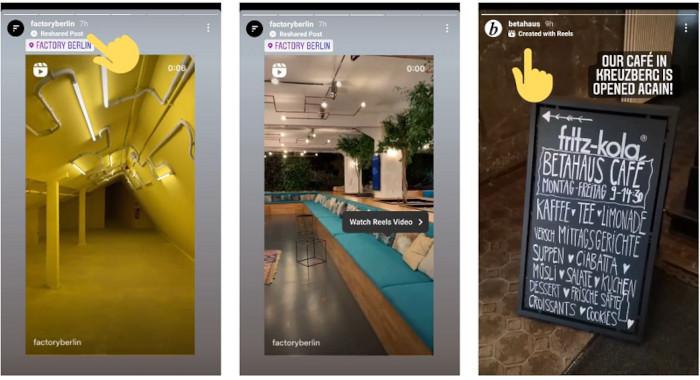 Das Reshared Post Label im Test bei Instagram
