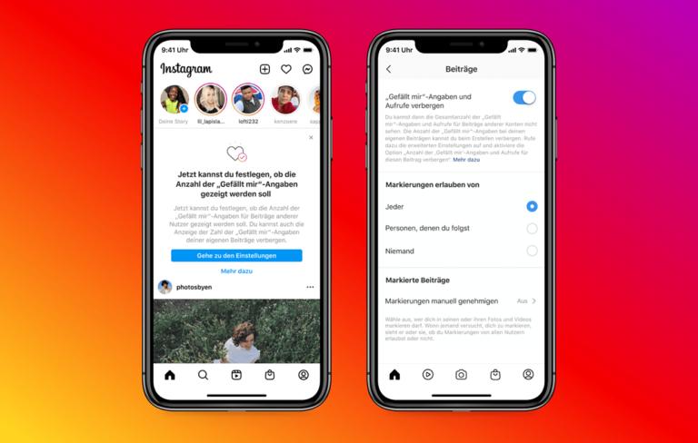 Instagram: User können jetzt Likes verbergen