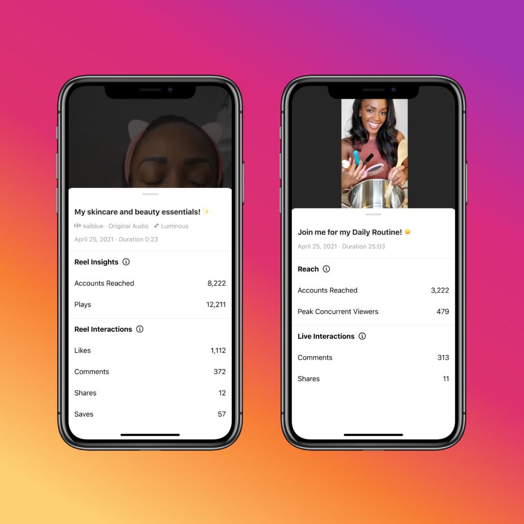 Insights zu Instagram Reels