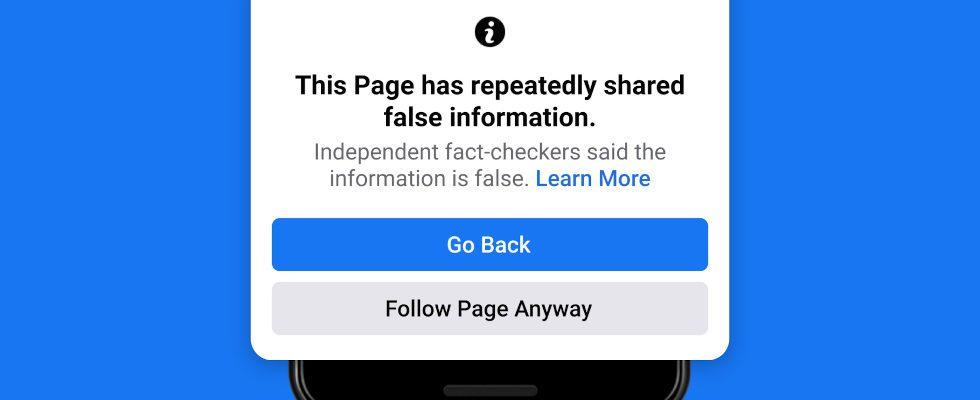 Weniger Reichweite: Facebook bestraft die wiederholte Verbreitung von Desinformationen