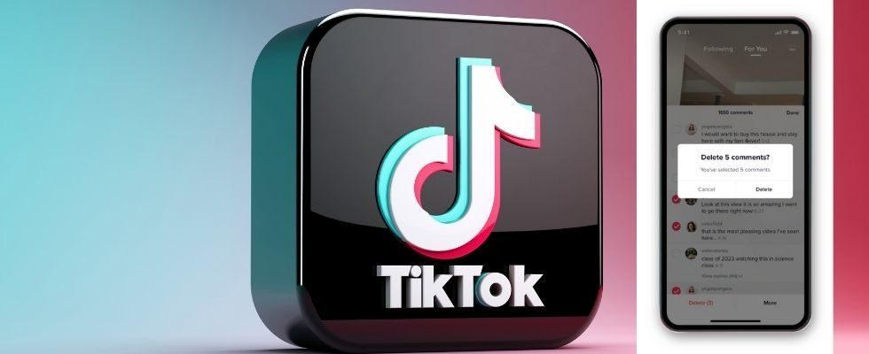 TikTok verbessert die UX mit neuem Kommentar-Lösch-Feature