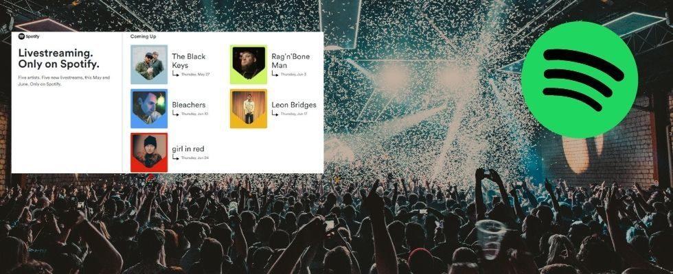 Spotify verkauft jetzt Tickets für Online-Konzerte