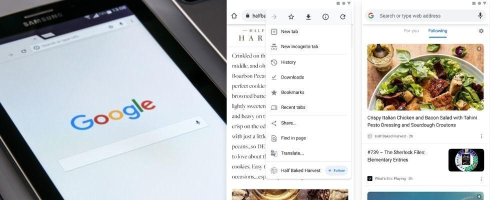 Websites direkt in Chrome folgen: Google testet Follow Button