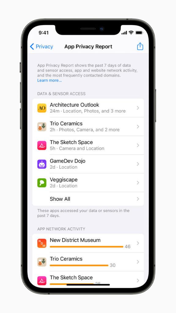 Apples App Privacy Report