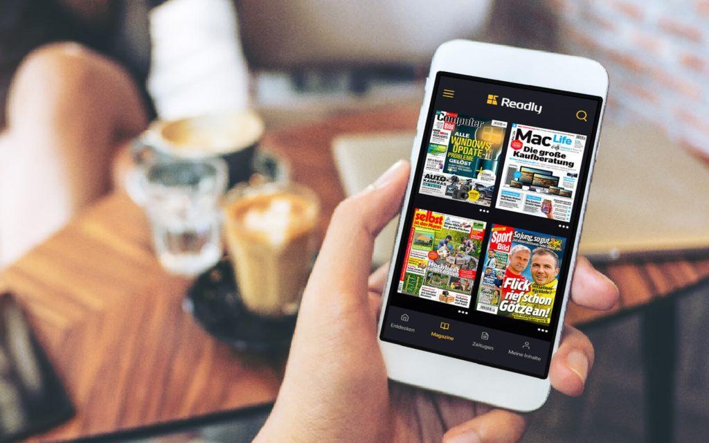 Die Readly App bietet über 5.000 Magazine und Zeitungen, © Readly