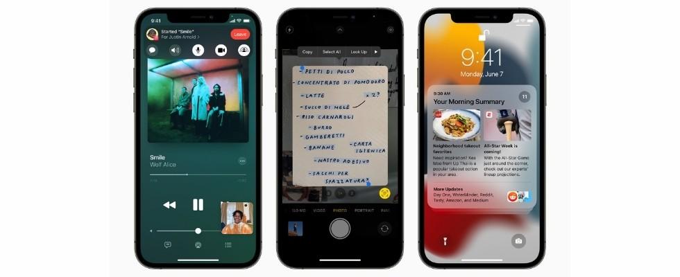 iOS 15: Apple präsentiert Facetime für das Web, Google Lens-Kopie, Ausweise im Apple Wallet und vieles mehr